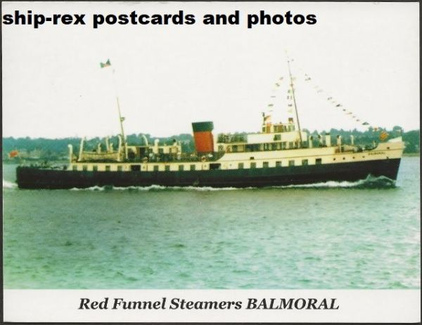 BALMORAL (1949a, Red Funnel) postcard (b)